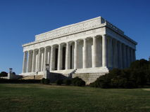 Lincoln Memorial. In Washington, D.C. cast in morning light, clear and cloudless Stock Photos