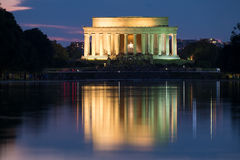 The Lincoln Memorial in Washington D.C. illuminated at night Stock Image