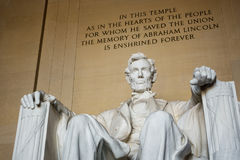 The Lincoln Memorial in Washington D.C., USA Royalty Free Stock Photography