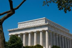 The Lincoln Memorial in Washington DC Stock Photos