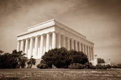 Lincoln Memorial Washington DC. Vintage and Antiqued Photo of the Lincoln Memorial in Washington DC Stock Photography