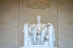 Lincoln Memorial, Washington DC immagini stock libere da diritti