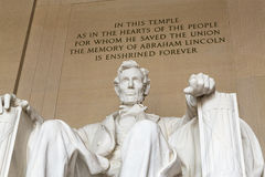 The Lincoln Memorial in Washington royalty free stock images