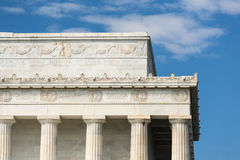 The Lincoln Memorial in Washington DC. At the end of the Mall Royalty Free Stock Photo