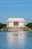 The Lincoln Memorial in Washington DC. The Lincoln Memorial and the Reflecting Pool in Washington DC royalty free stock photo