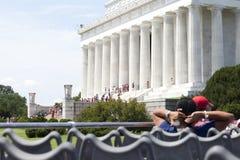 Lincoln Memorial, Washington DC. Tour Bus View of the Lincoln Memorial, Washington DC Stock Photo