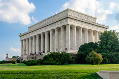 Lincoln Memorial in Washington DC. USA against a scenic blue sky royalty free stock images