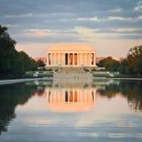 Lincoln Memorial Washington DCFörenta staterna Arkivbilder