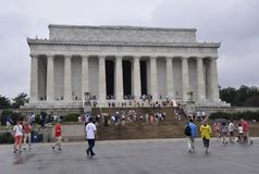 Washington DC, July 5th: Lincoln Memorial from Washington District of Columbia USA Royalty Free Stock Images