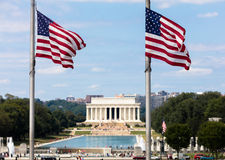Lincoln memorial from the Washington monument Royalty Free Stock Photography