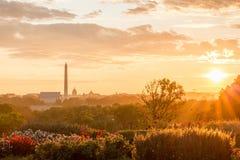 Lincoln Memorial, Washington Monument, het Kapitaal van Verenigde Staten stock afbeelding