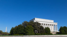 Lincoln Memorial and Washington Monument on a sunny day. Stock Images