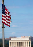 Lincoln memorial from the Washington monument Royalty Free Stock Images