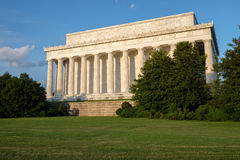 The Lincoln Memorial in Washington at sunset Stock Images