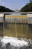 Lincoln Memorial with waterfall Stock Photos
