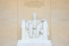 Lincoln minnes- staty, Washington, DC Arkivbilder