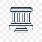 Lincoln minnes- vektorsymbol som isoleras på genomskinlig bakgrund, royaltyfri illustrationer