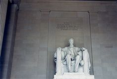 Lincoln minnesmärke arkivfoton