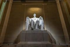Lincoln minnesmärke på natten Fotografering för Bildbyråer