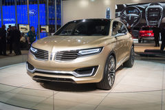 Lincoln MKX 2015 concept car on display Stock Photos