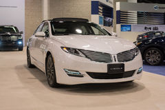 Lincoln MKZ op vertoning Royalty-vrije Stock Foto's