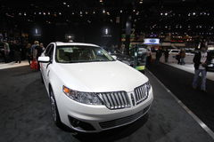 Lincoln model 2011 at Chicago auto  show. Chicago auto show February 2011 Stock Image