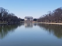 Lincoln Momentum. The Lincoln Monument in Washington DC stock photography
