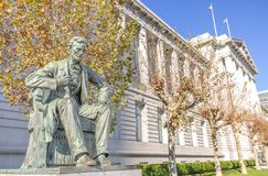Lincoln monument and City Hall,San Francisco Royalty Free Stock Image