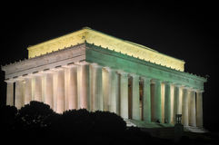 Lincoln Monument After Dark stock photography