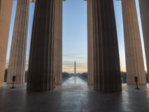 Lincoln Monument View Dawn Stock Photo