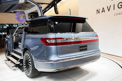 A Lincoln Navigator Conceptshown  at the New York International. NEW YORK - March 23: A Lincoln Navigator Conceptshown  at the New York International Auto  Show Stock Photography