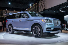 Lincoln Navigator shown at the New York International Auto Show. NEW YORK- APRIL 12: Lincoln Navigator shown at the New York International Auto Show 2017, at the Royalty Free Stock Photo