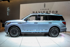 Lincoln Navigator som visas på New York den internationella auto showen Royaltyfria Foton