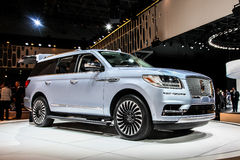 Lincoln Navigator som visas på New York den internationella auto showen Royaltyfri Foto