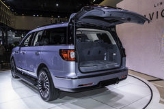 Lincoln Navigator som visas på New York den internationella auto showen Royaltyfri Fotografi