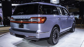 Lincoln Navigator som visas på New York den internationella auto showen Arkivfoton