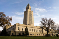 Lincoln Nebraska Capital Building Government-Hauben-Architektur Stockfotos