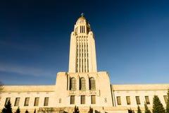 Lincoln Nebraska Capital Building Government-Koepelarchitectuur royalty-vrije stock afbeeldingen