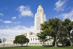 Lincoln, Nebraska - State Capitol Building Royalty Free Stock Photography