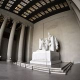 Lincoln Pamiątkowego kwadrata format Fotografia Royalty Free