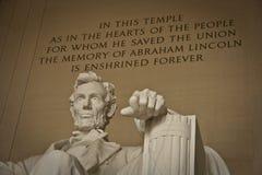 Lincoln Pamiątkowy Waszyngton, DC Obraz Stock