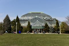 Lincoln Park Conservatory Arkivfoton