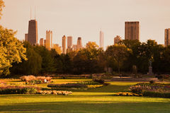 Lincoln Park during fall Stock Photography