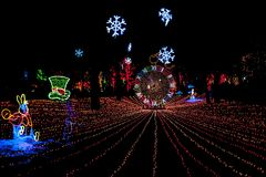 Lincoln park zoo Christmas lights. Zoo lights Christmas Stock Image