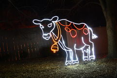 Lincoln Park Zoo Lights. Chicago, USA, 31st December 2016 : To walk through the luminous display at New Year's Eve at Lincoln Park Zoo in Chicago Stock Image