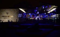 Lincoln Park Zoo Zoolights #1 photographie stock libre de droits