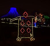 Lincoln Park Zoo Zoolights #5. This is a Winter picture of a holiday exhibit at the iconic Lincoln Park Zoo Zoolights located in Chicago, Illinois in Cook County stock photo