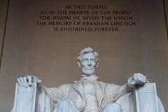 Lincoln pomnik. fotografia royalty free
