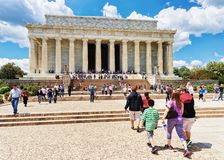 Lincoln pomnik blisko national mall washington dc obrazy royalty free