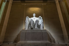 Lincoln pomnik przy nocą Obraz Stock
